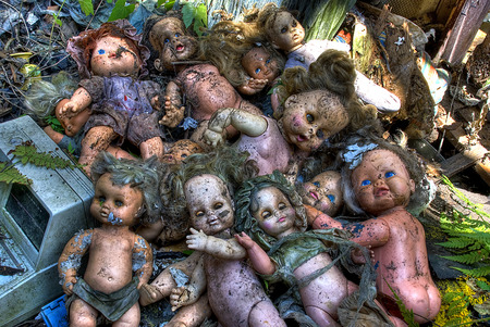Zombie Dolls - zombies, dolls, bizarre, fantasy, photography, evil, horror