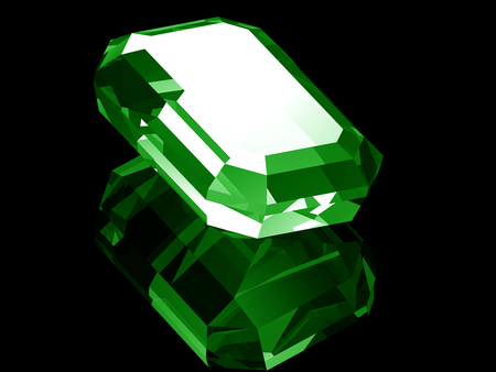 Emerald Gemstone - abstract, green, photography, emerald gemstone