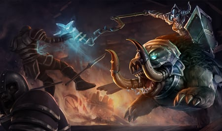 League Of Legends - Dark Rider Sejuani - sejuani, lol, game, league of legends, dark rider