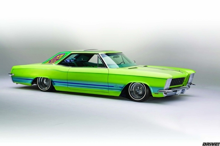 Riviera Paradise - low, custom, lime green, buick