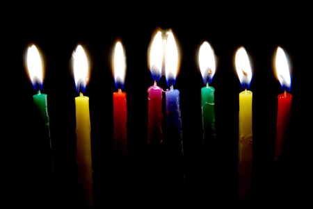 Rainbow Birthday Candles Textures Amp Abstract Background