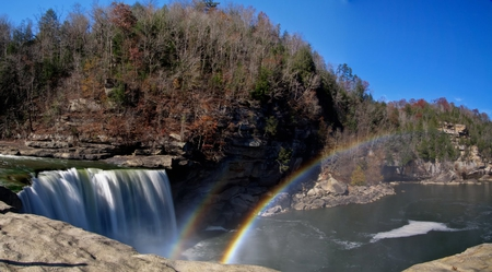 Rainbow Waterfall - picture, waterfall, rainbow, beautiful