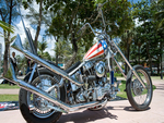 The New Captain America Harley Chopper.