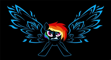 Angry Rainbow Dash - pony, little, rainbow dash, my