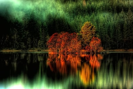 Green Sheen - colorful, clear, clean, shine, beautiful, lake, sheen, shimmer, hdr, crystal, reflections