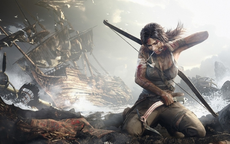 Surviving - lara, survival, lady, shipwrecked