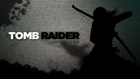 Tomb Raider - croft, lara, lara croft, grey, black, tomb raider, white
