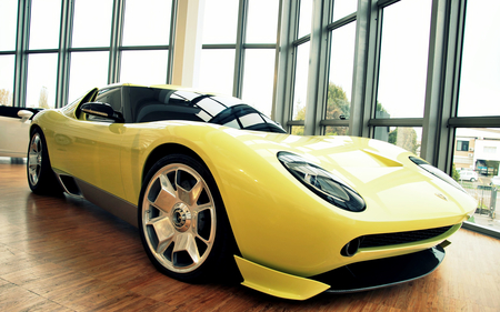 Luxury car - car, yellow car, luxury, technology