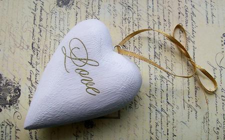 heart pendant - white, pendant, lace, wp, love