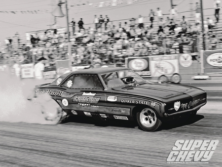 Super Chevy Drag Racing Greats - gm, 1969, funny car, bowtie