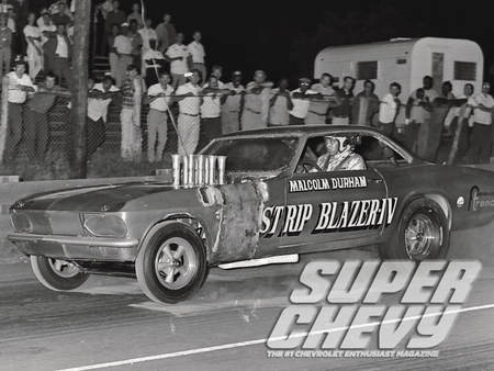 Super Chevy Drag Racing Greats - gm, pipes, funny car, bowtie
