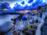 Blue Santorini Sunset