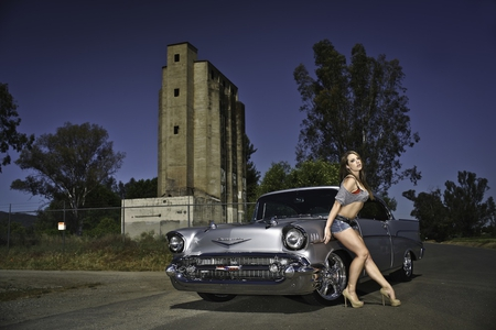 Cool Chevy Girls And Cars Cars Background Wallpapers On Desktop
