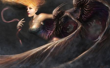 Devils fantasy abstract background wallpapers on desktop nexus image 952475 - Hot demon women ...