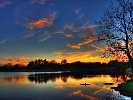 Lake Sunset - Sunsets & Nature Background Wallpapers on ...