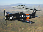 Grumman F8F Bearcat and F/A-18 Super Hornet