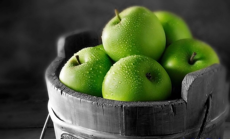 Green Apples - apple, photography, green, nature, fruits