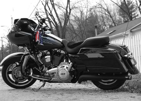 2012 HD Road Glide Custom (FLTRX) - bw, fltrx, hd, harley davidson