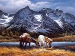 Terry Redlin - Purple Mountain (for my friend Tony - Nannouk)