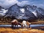 Terry Redlin - Purple Mountain (for my friend Tony - Nannouk)