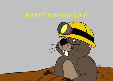 Happy Gopher Day - groundhog day, cartoons, gopher, pooh