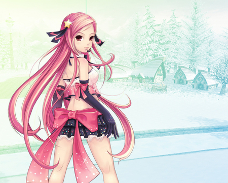 Lucia - lucia, ribbon, bow, long hair, anime