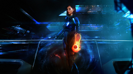 Mass Effect 3 - mass effect 3, stunning, female, hd, action, cg, video game, game, digital art, adventure, fantasy, girl, mass effect, blue