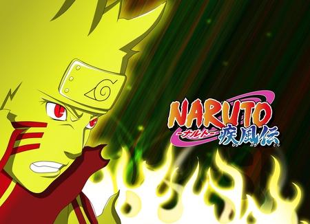 Uzumaki Naruto - flames, fire, headband, anime, naruto shippuden, uzumaki naruto, ninja, shinobi, naruto, naruto uzumaki, red eyes