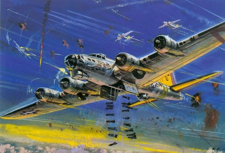 B17 Bomber Wallpaper B17  B17 Bomber Drawing