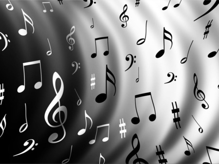 music music - musical, pattern, music, notes, the, wavy, all, 3d