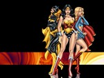 Bat Girl, Wonder Woman, Super Girl
