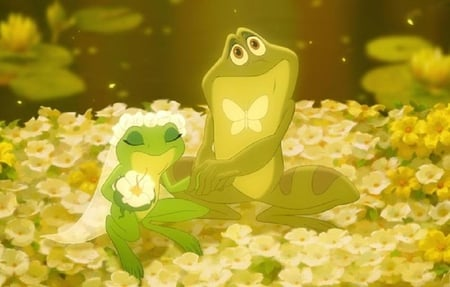 Frog wedding - photo, romantic, wedding, cute, frog, photography, nice, humor, green, others, funny, reptiles, animals