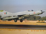 Mig-21 taking off.