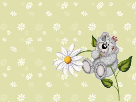 Creddy love - cute, gbear, margarita, flower, creddy, collage, daisy