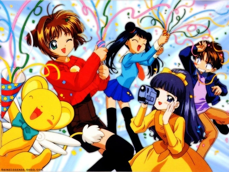 celebration party card captor sakura anime background