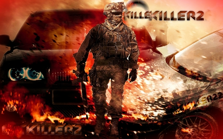 call of duty modernwarfare 2 - call of duty, war, accion, soldiers