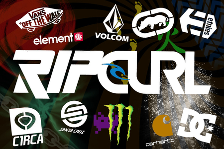Collage 1 - volcom, etnies, element, monster, circa, dc, ecko, santa cruz, ripcurl, carhart, vans