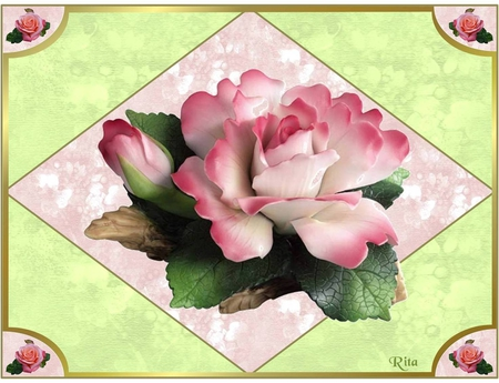 SPECIALLY FOR APPLEJACKQUEEN - small roses, diamond, pink rose, corners