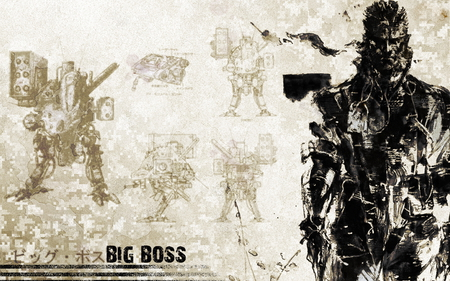 big boss metal gear solid video games background