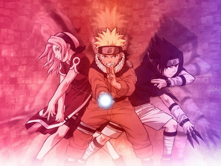 Team 7 - sakura, naruto, sasukem, rasengan, team7