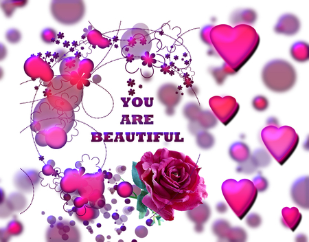 You Are So Beautiful 3d And Cg Abstract Background Wallpapers On