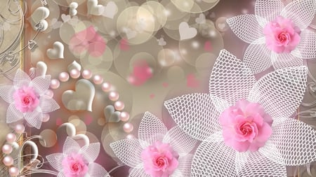 lace pearls pink wallpaper - photo #16