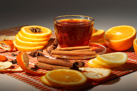 Orange tea - photography, delicious, cinnamon, cup, drink, tea, oranges