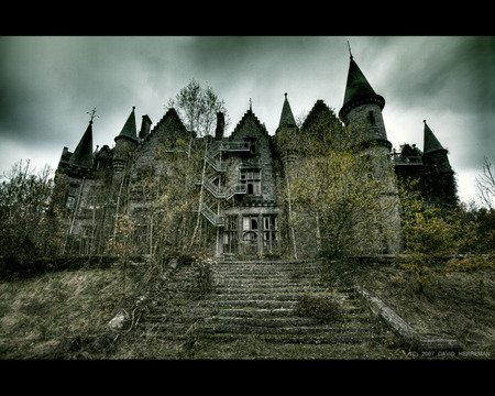 Abandandoned Castle - architecture, dark, ruins, castle, other, abandoned