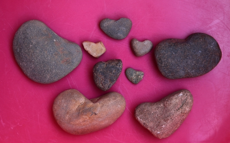 Collection Of Heart Shaped Stones - heart, check, them, cool