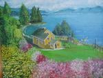Canadian House ,Nature painted by saad kilo-montreal 1998