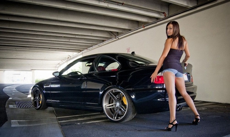 Hot Bmw Girls And Cars Amp Cars Background Wallpapers On Desktop Nexus Image 971290