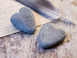 Stone hearts AND Feathers