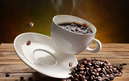 coffee cup - dishes, coffee, cup, coffee cup, coffee beans