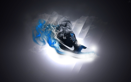 Nike shoes - trendy, nike, blue, grip